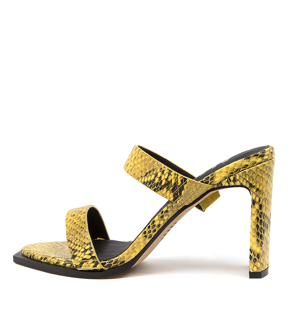 Buy Alias Mae Cleo Am Yellow Heeled Sandals online with free shipping