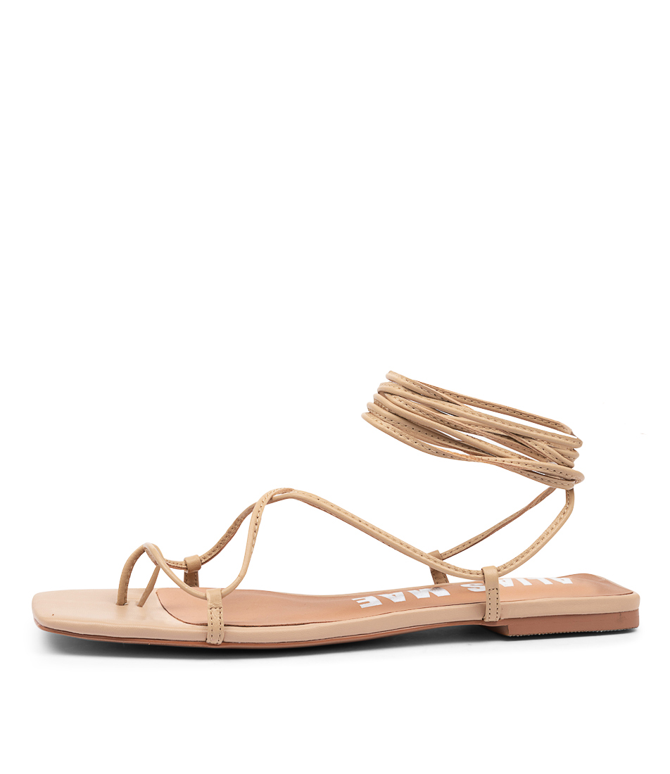 Buy Alias Mae Angie Am Natural Flat Sandals online with free shipping