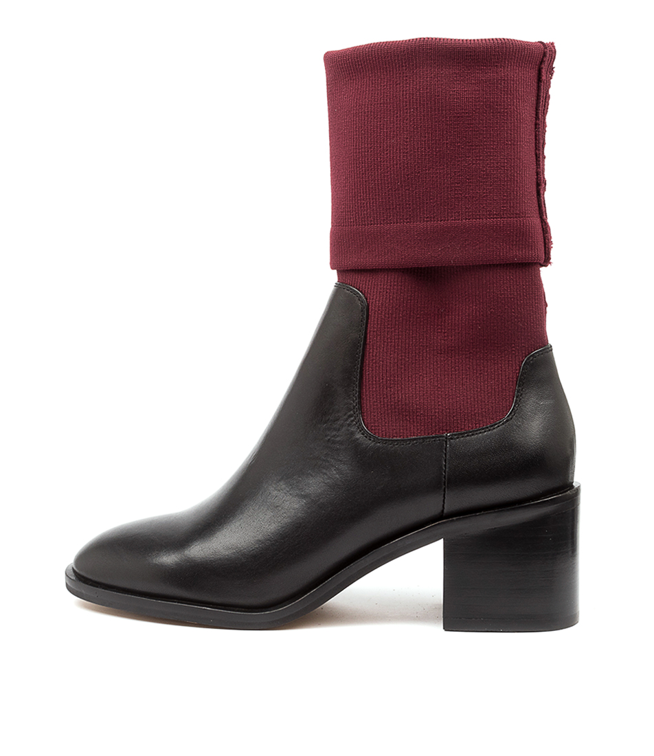 Buy Alias Mae Gabi Am Burgundy Ankle Boots online with free shipping