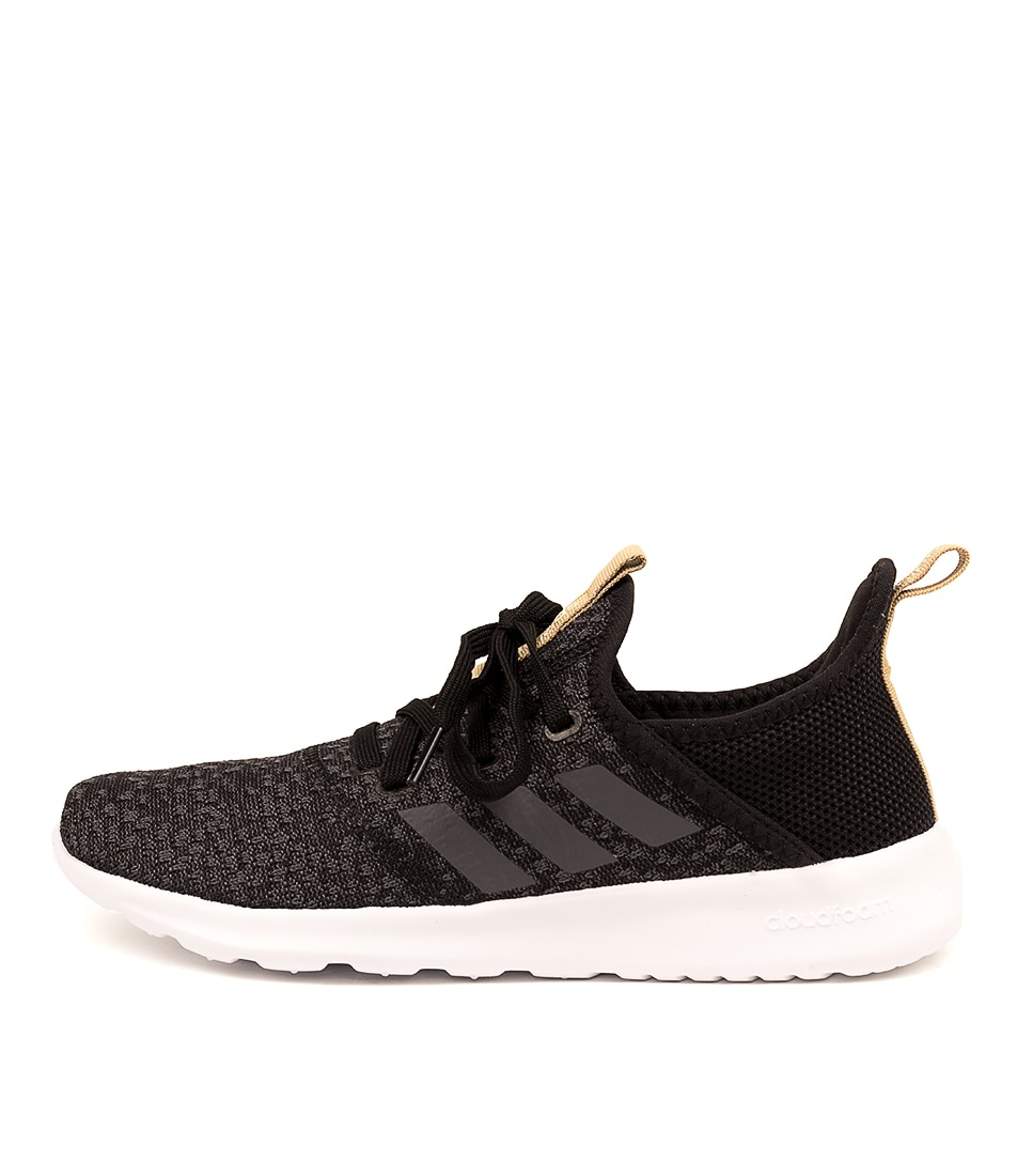 Buy Adidas Neo Cloudfoam Pure Black Grey Sneakers online with free shipping
