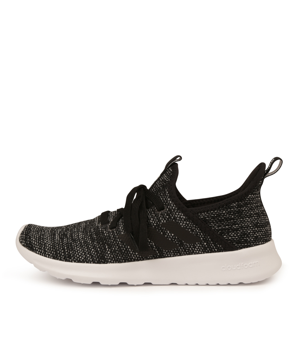 Buy Adidas Neo Cloudfoam Pure Black White Sneakers online with free shipping