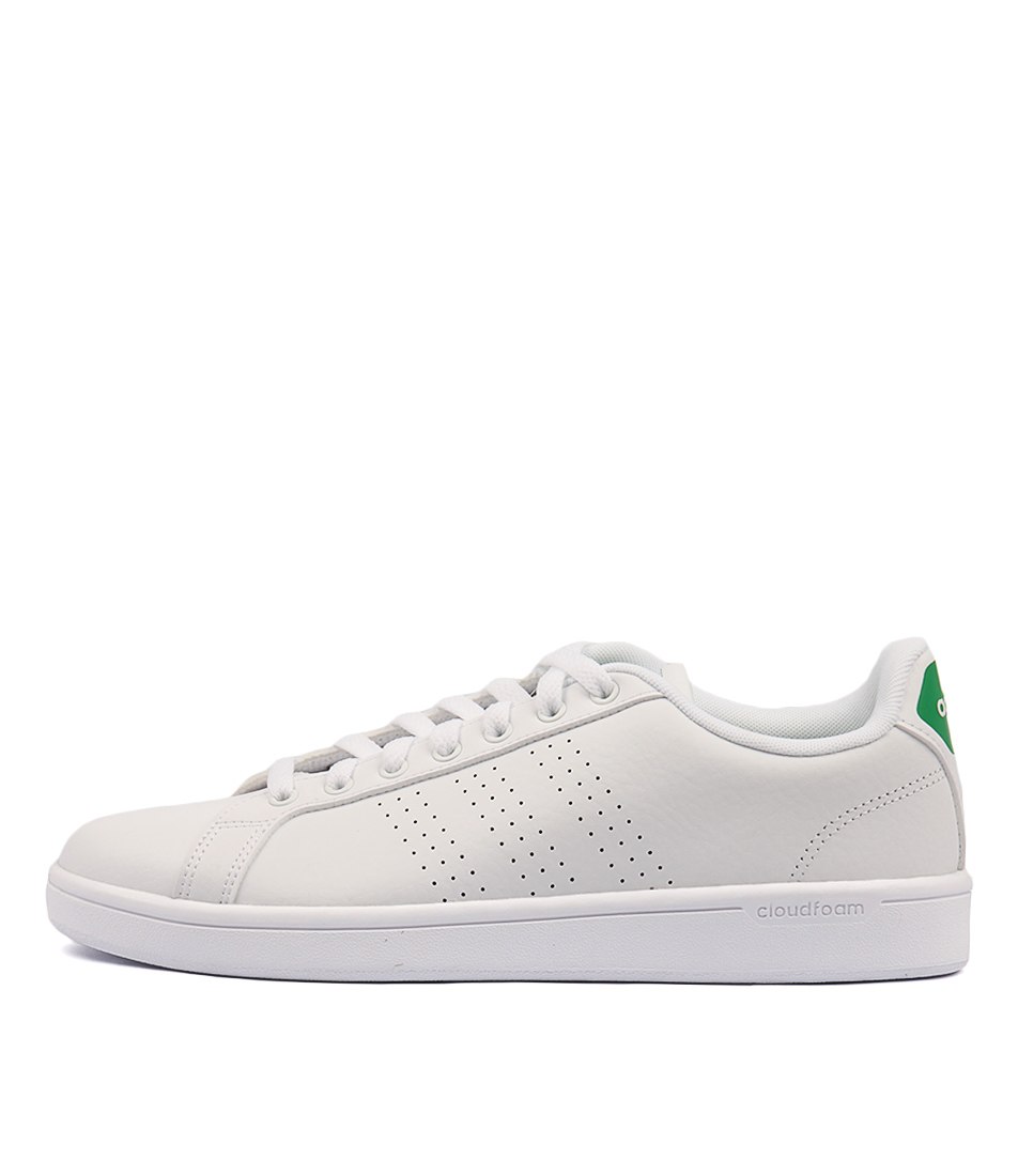 half off aebdb c78ad adidas Neo Cloudfoam Advantage Clean White Green Leather Men Shoe Sneaker  Aw3914 11. About this product. Picture 1 of 6 Picture 2 of 6 ...