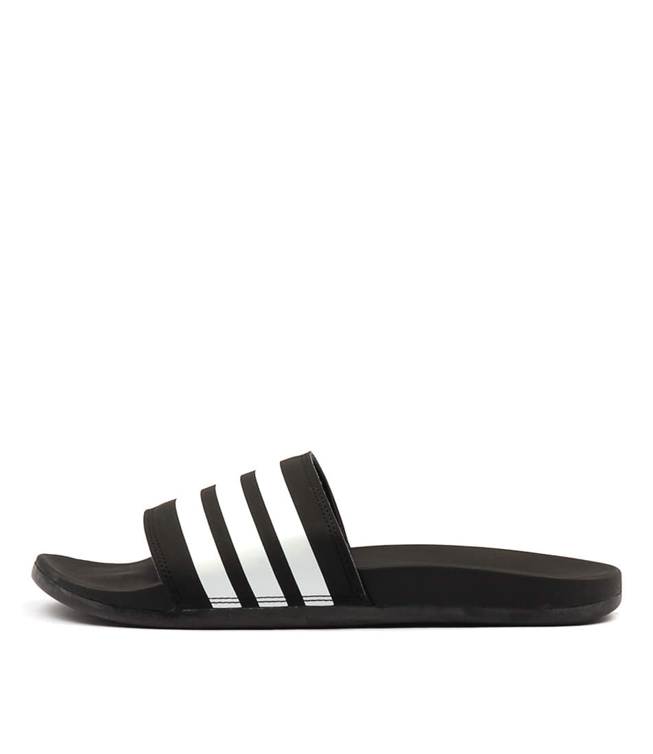 Adidas Neo Adi Cf+ Stripes Black White Bla Sandals Womens Shoes Comfort Sandals