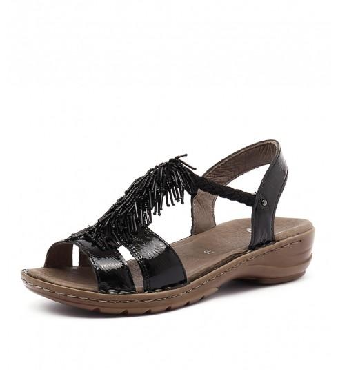 Ara Hawaii 70 Schwarz Heeled Sandals