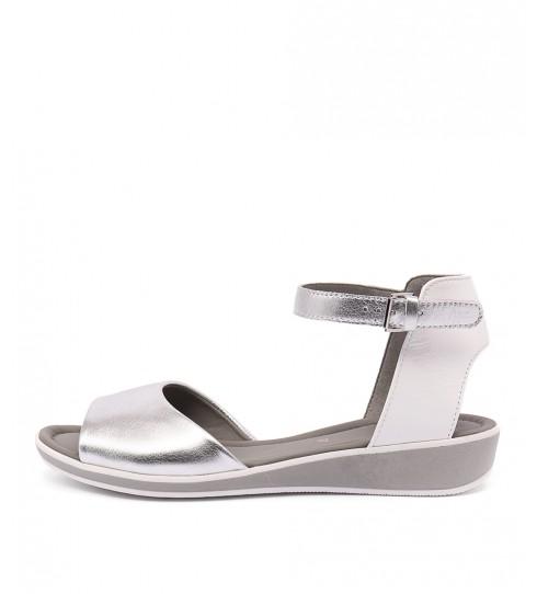 Ara Lucca 03 Silber Weiss Sandals