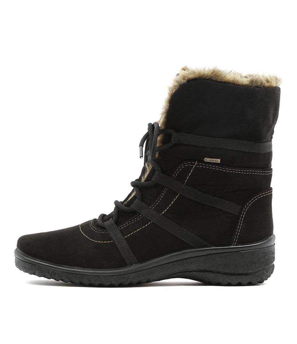 Ara Munchen 23 Schwarz Natur Ankle Boots