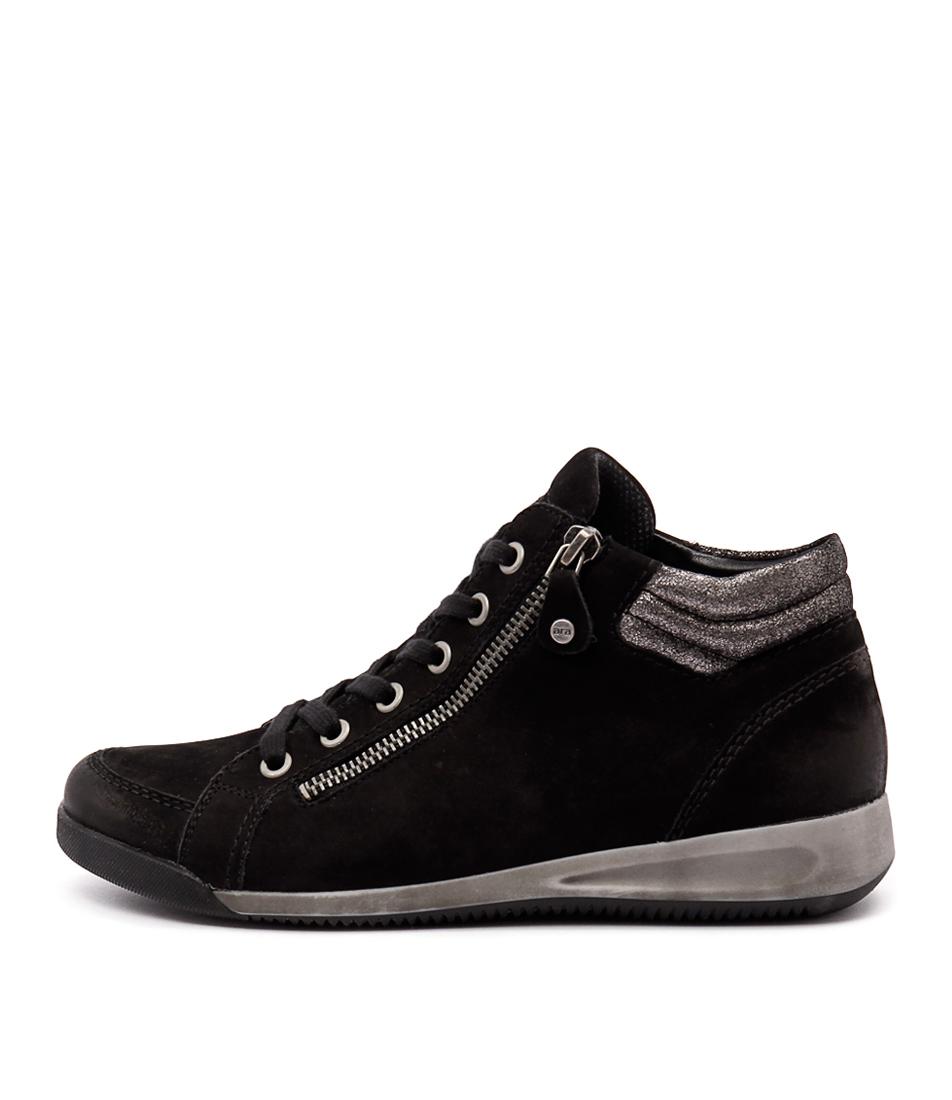 Ara Rom 10 Schwarz Gun Sneakers