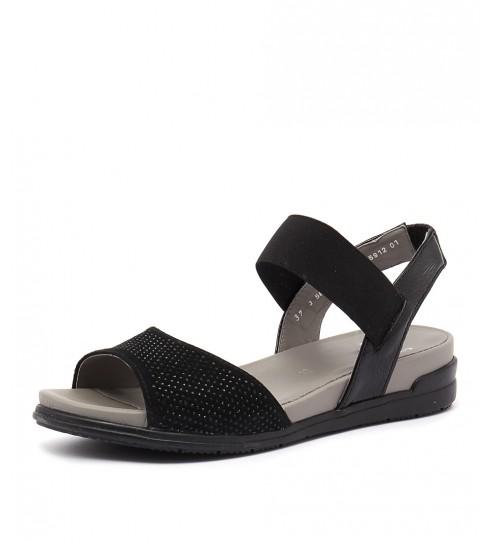 Ara Venice 12 Schwarz Casual Heeled Sandals