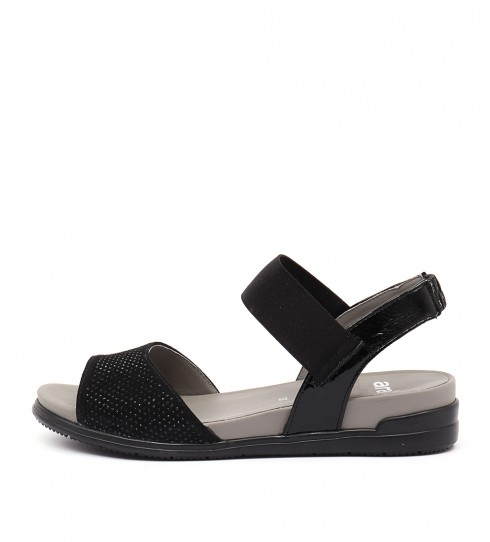 Ara Venice 12 Schwarz Casual Heeled Sandals