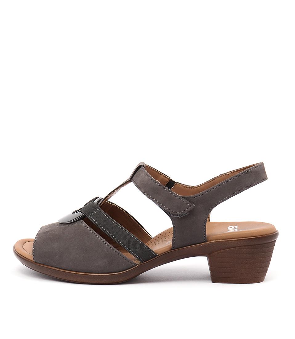 Ara Lugano 15 Dark Taupe Heeled Sandals