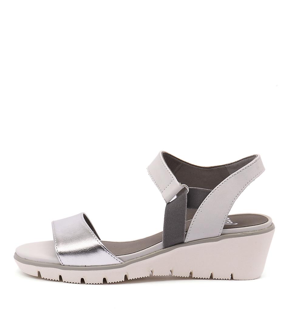 Ara Marsala 13 Silber Weiss Sandals