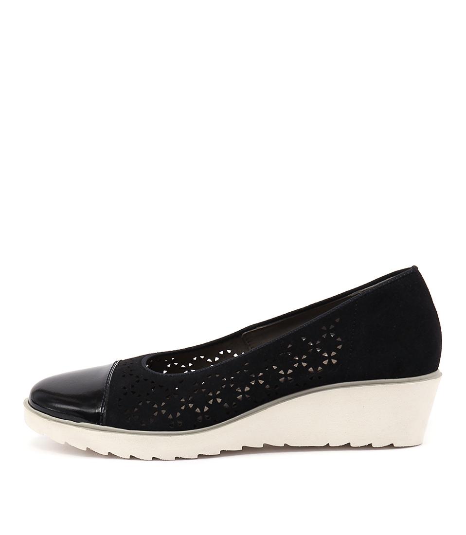 Ara Marsala 42 Blau Casual Heeled Shoes