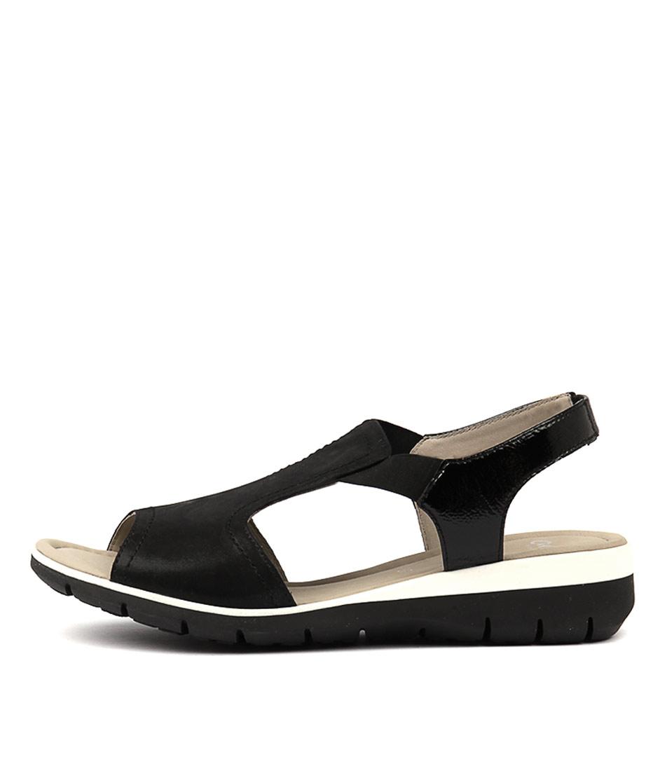 Ara Lido 17 Black White Sandals