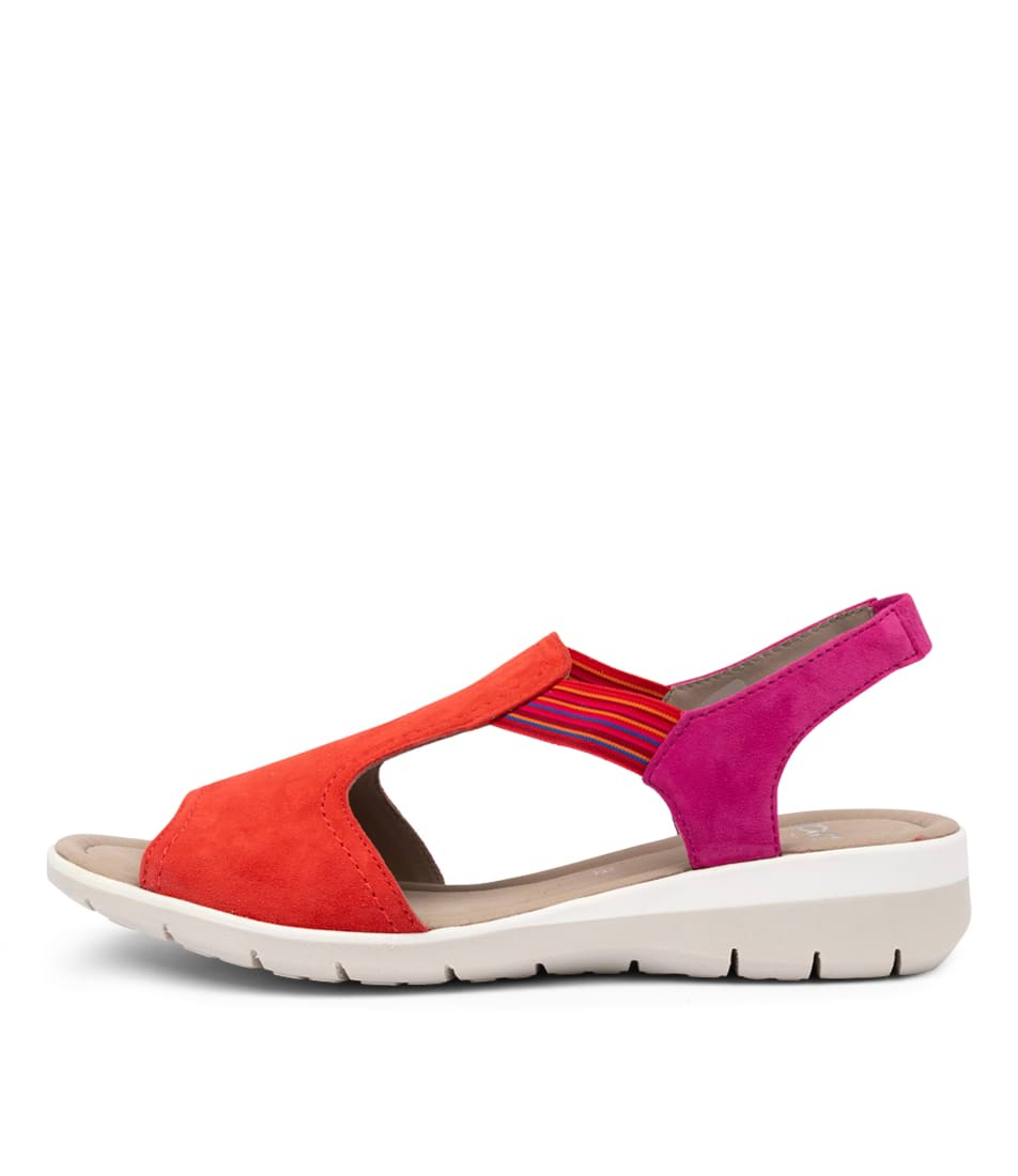 Buy Ara Lido 17 Coral Flat Sandals online with free shipping