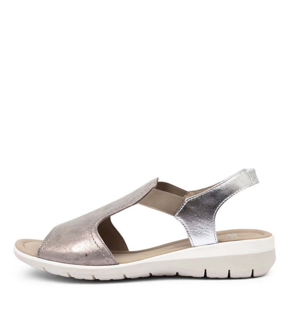 Buy Ara Lido 17 Silver Flat Sandals online with free shipping