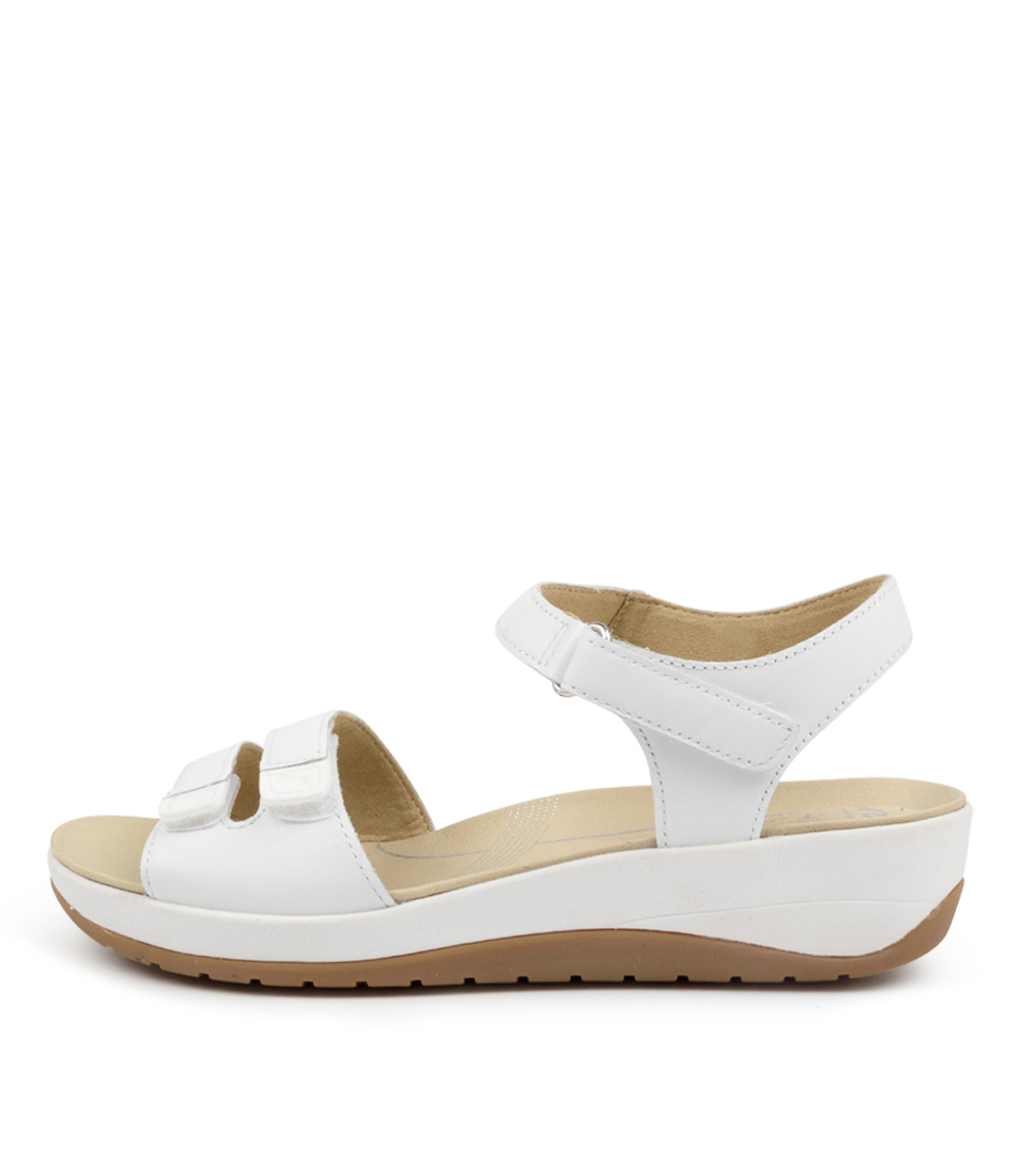 Buy Ara Napoli 30 Ar Weiss Flat Sandals online with free shipping
