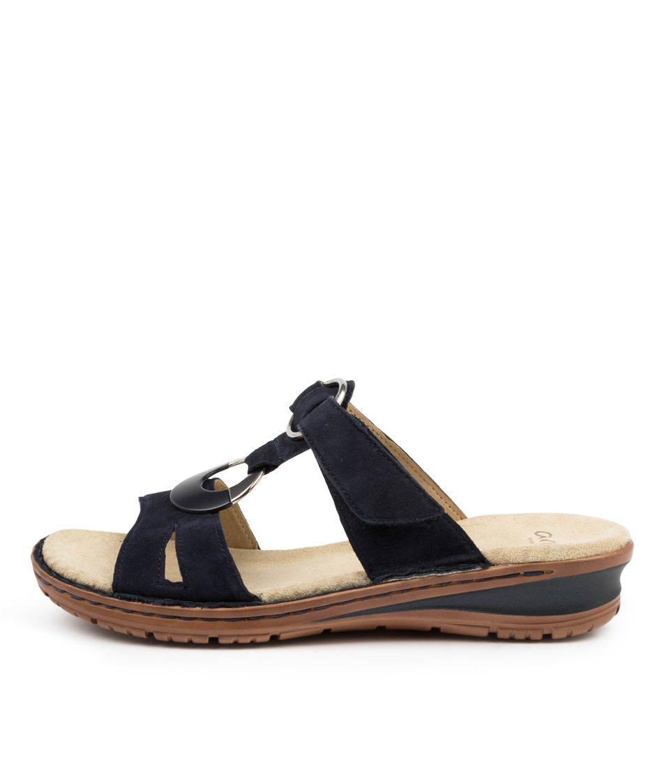 Buy Ara Hawaii 33 Ar Blau Flat Sandals online with free shipping