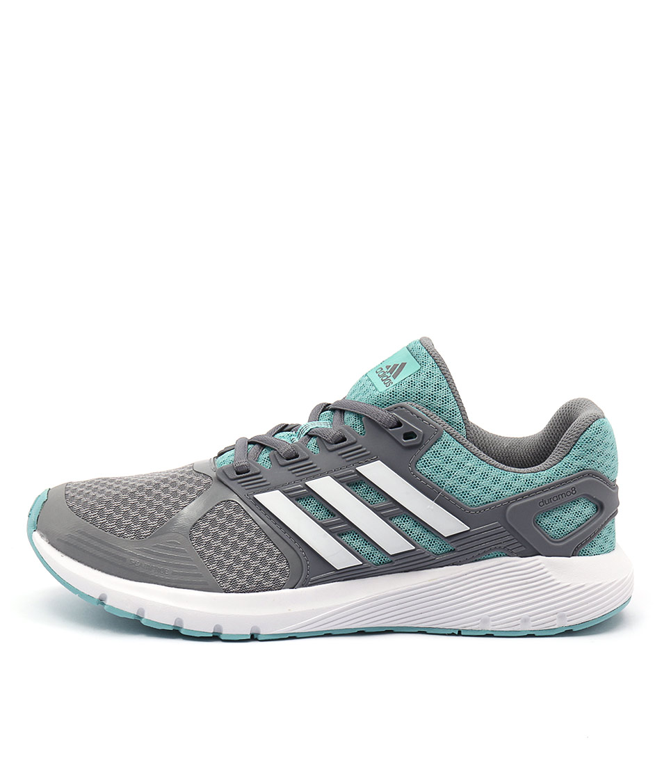Adidas Performance Duramo 8 Grey White Mint Sneakers