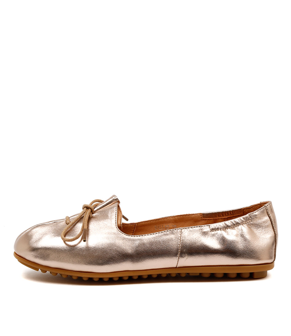 Django & Juliette Ballad Rose Gold Casual Flat Shoes