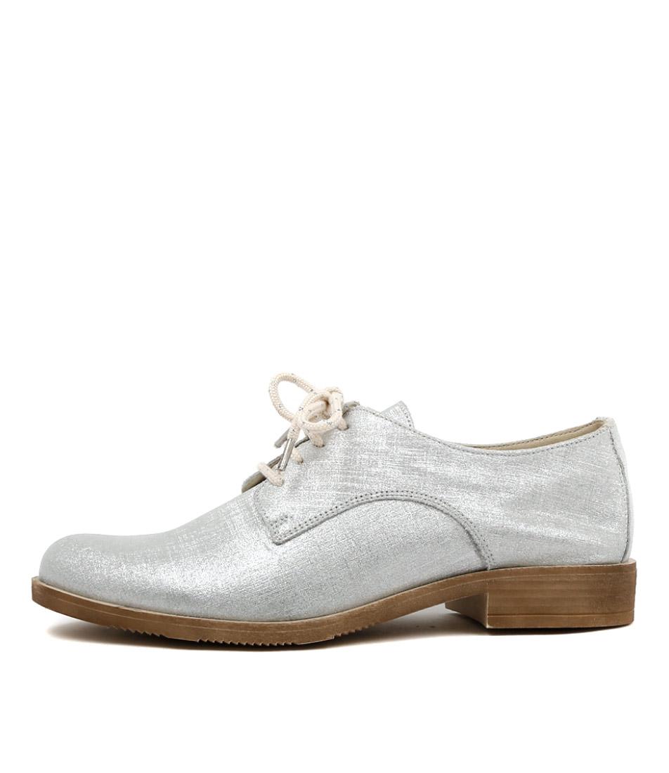 Beltrami Fast Silver Flat Shoes