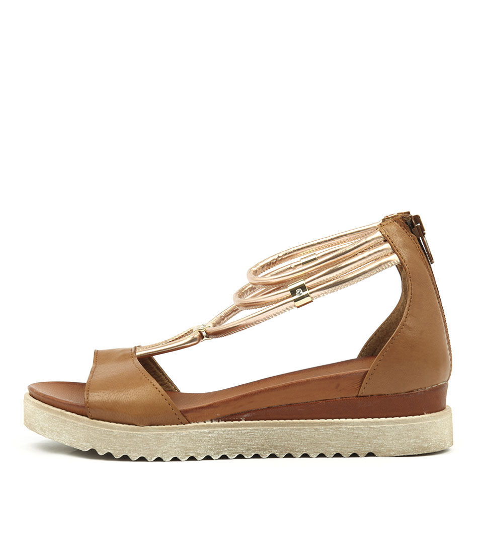 Photo of Beltrami Showy Tan Flat Sandals womens shoes