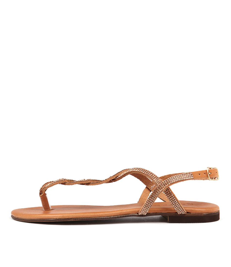 Beltrami Katala Tobacco Casual Flat Sandals