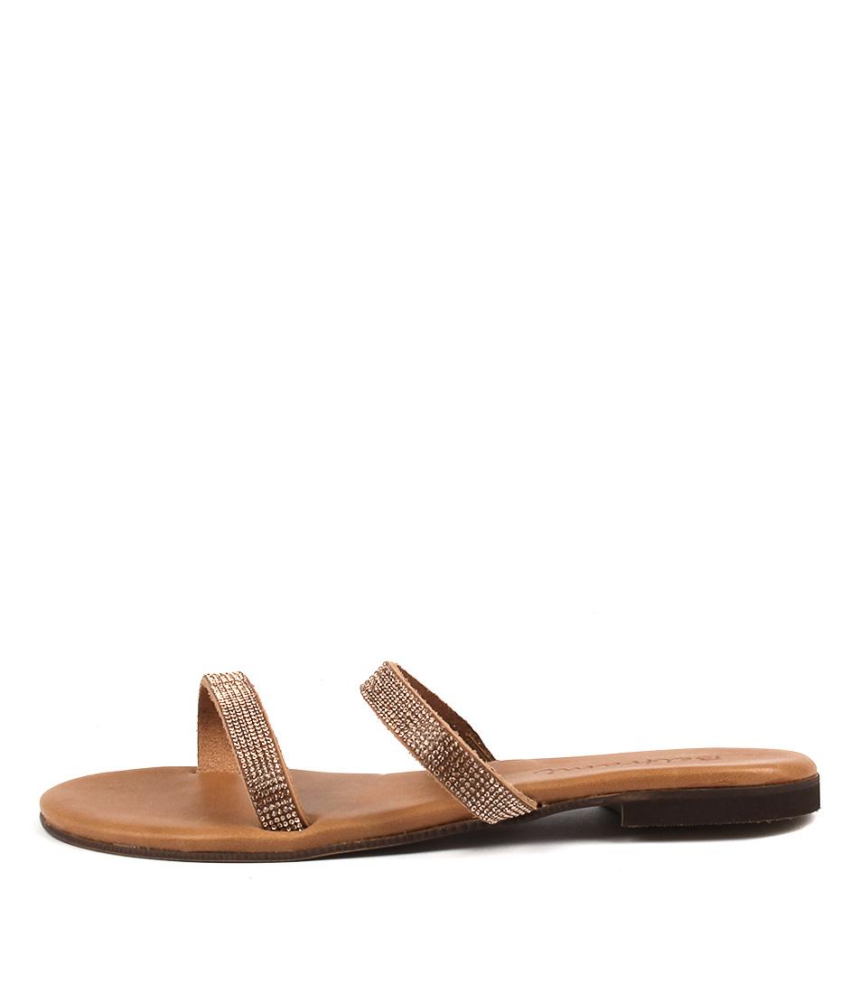 Beltrami Katel Tobacco Casual Flat Sandals