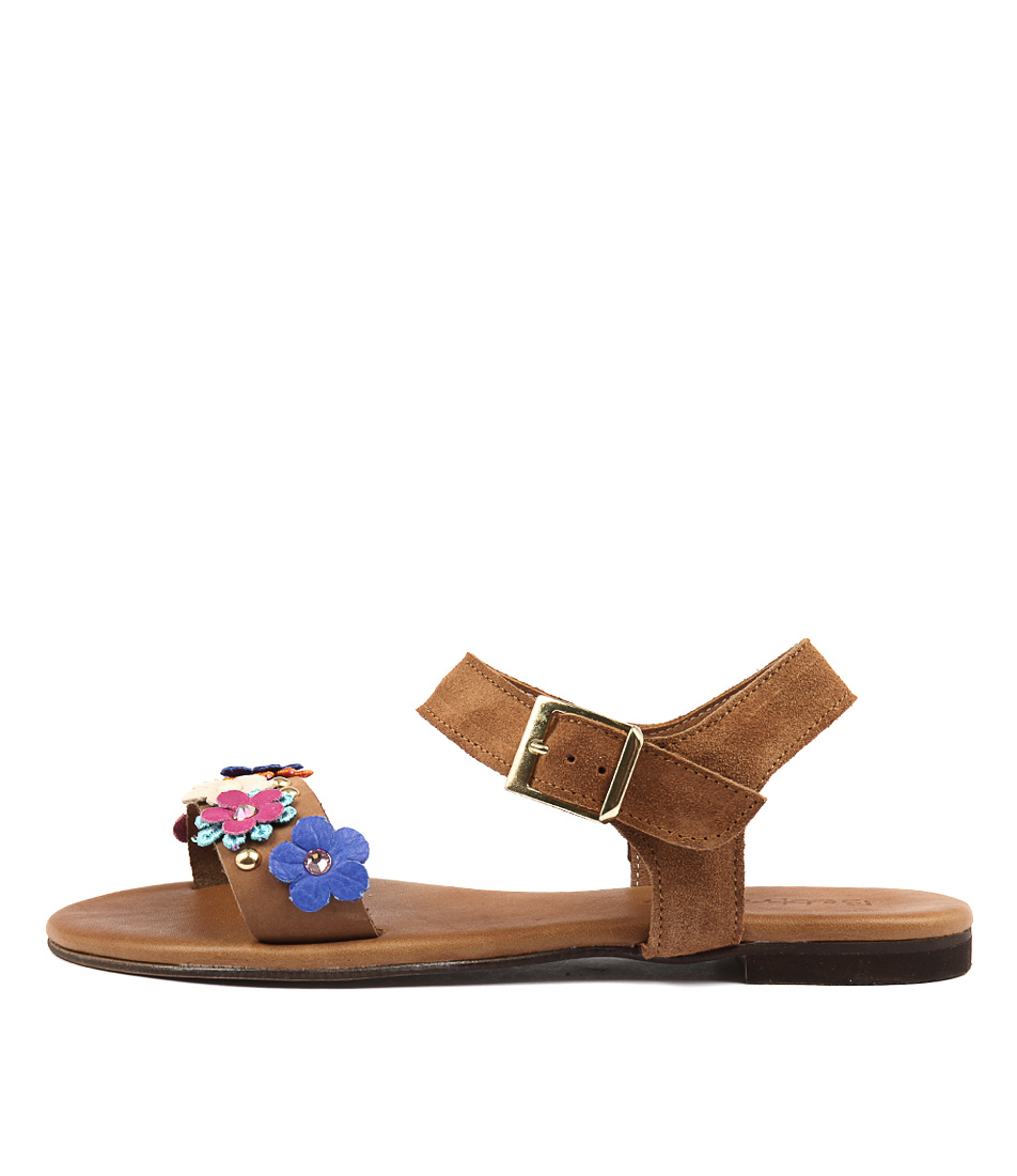 Beltrami Kaylee Be Tobacco Casual Flat Sandals