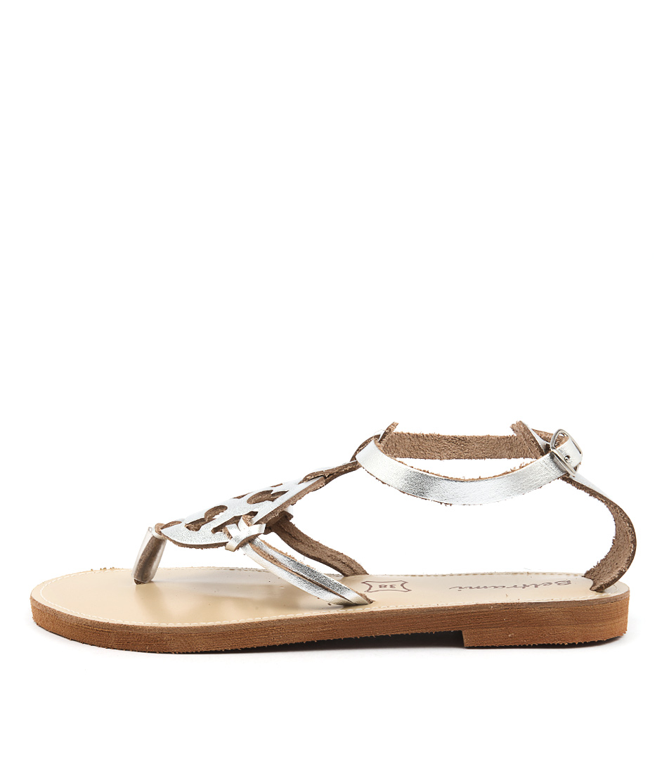 Beltrami Haylee Silver Flat Sandals