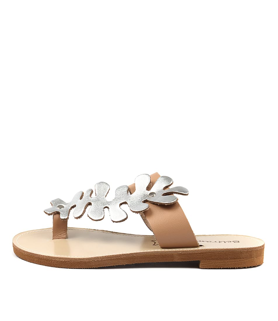 Beltrami Haley Be Natural Silver Casual Flat Sandals