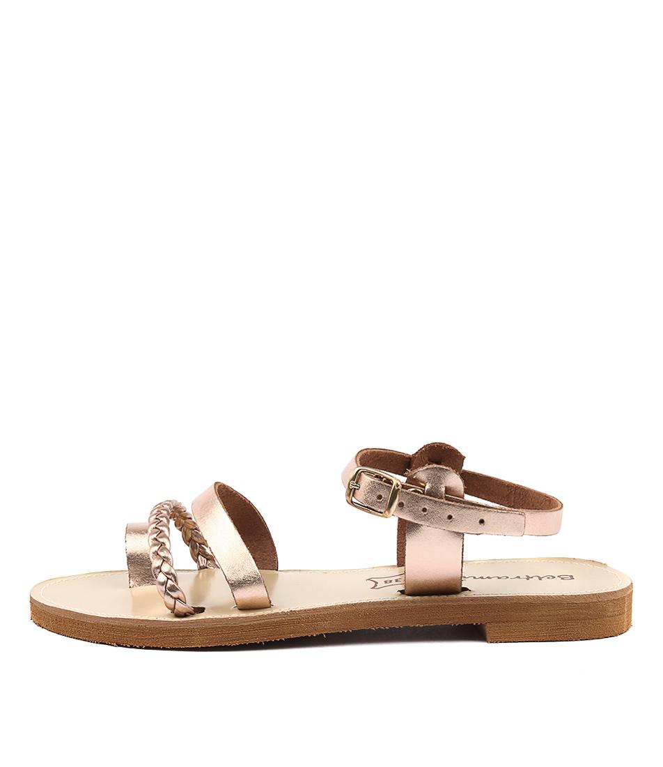 Beltrami Hatch Be Rose Gold Casual Flat Sandals