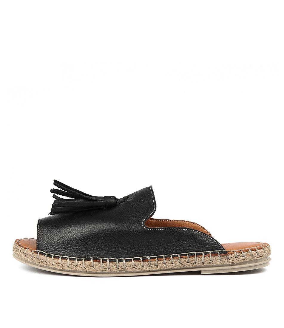 Beltrami Humming Black Sandals
