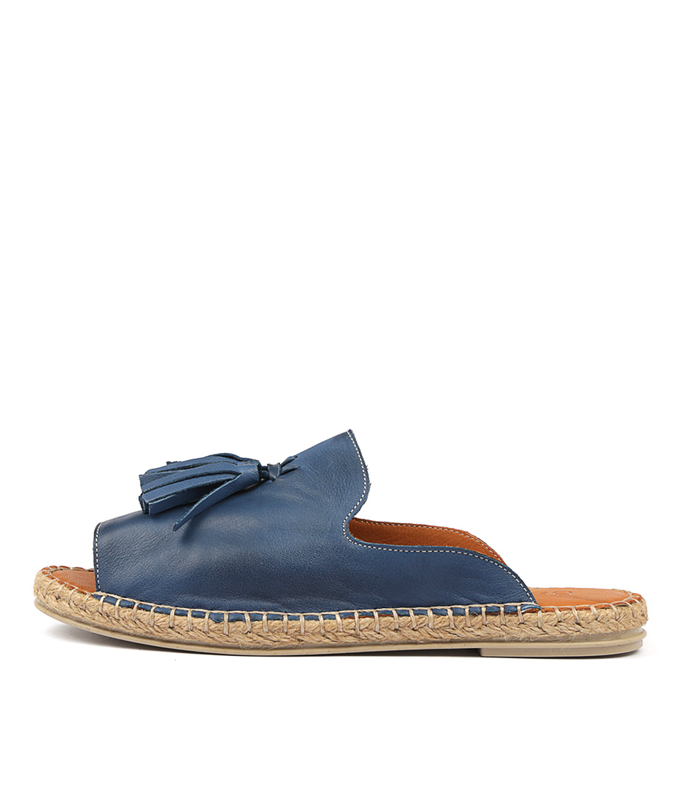 Buy Beltrami Humming Blue Flat Sandals online with free shipping