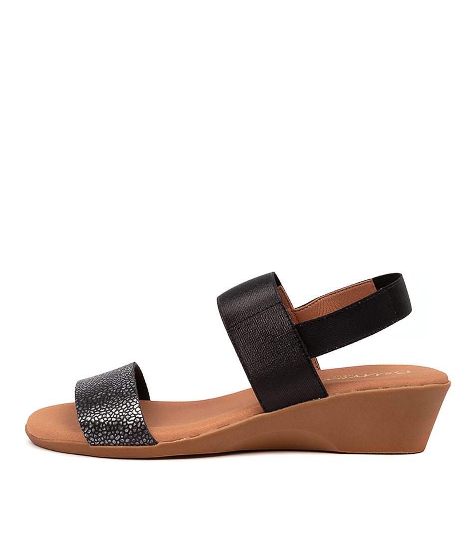 Buy Beltrami Mariana Be Black Metallic Heeled Sandals online with free shipping