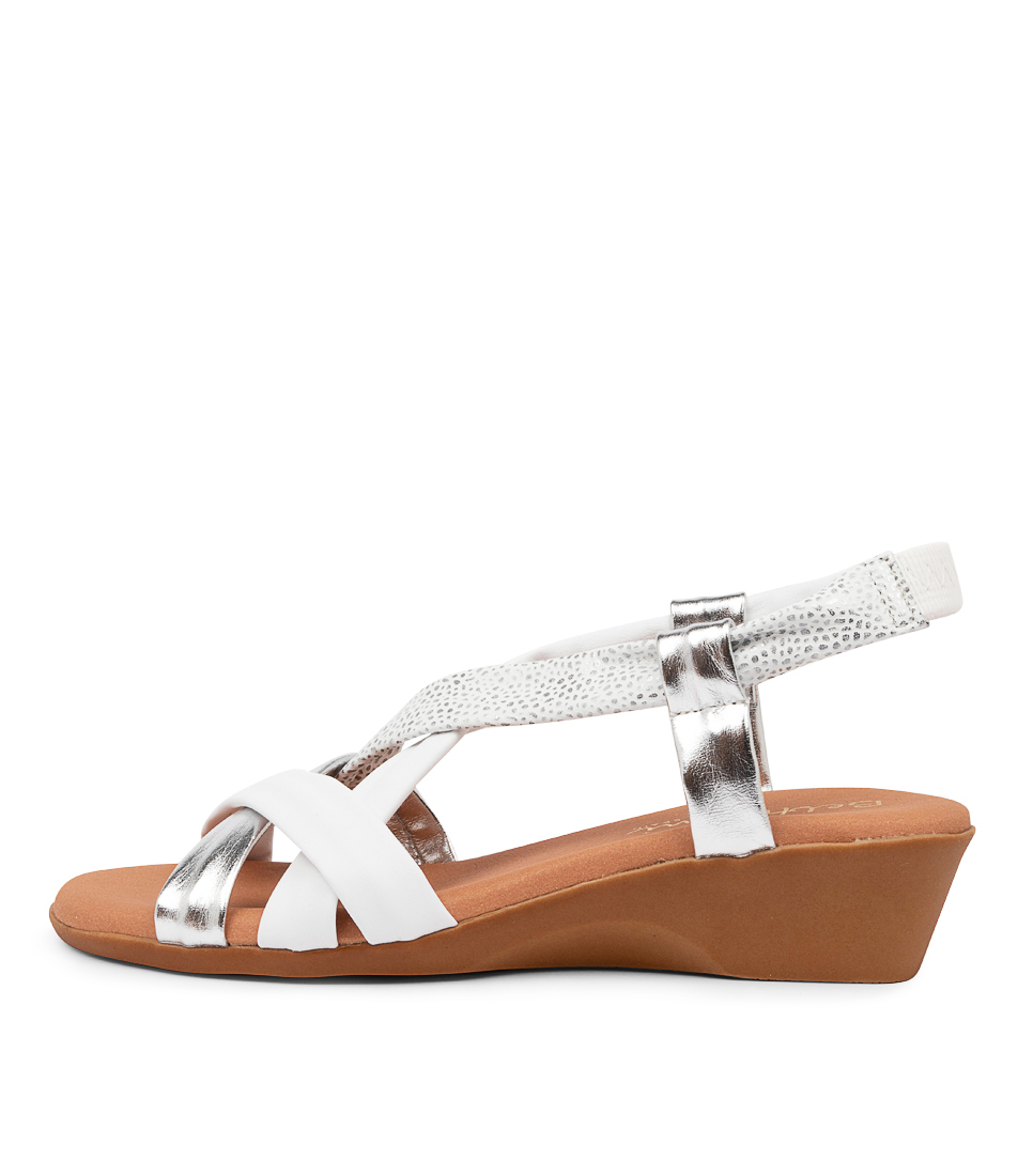 Buy Beltrami Ana Sofia Be White Multi Heeled Sandals online with free shipping