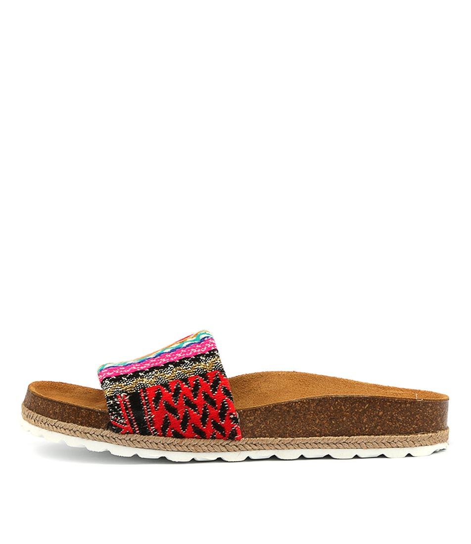 Buy Beltrami Vanna Red Multi Flat Sandals online with free shipping