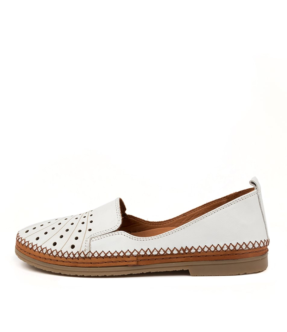 Buy Beltrami Cannie White Flats online with free shipping