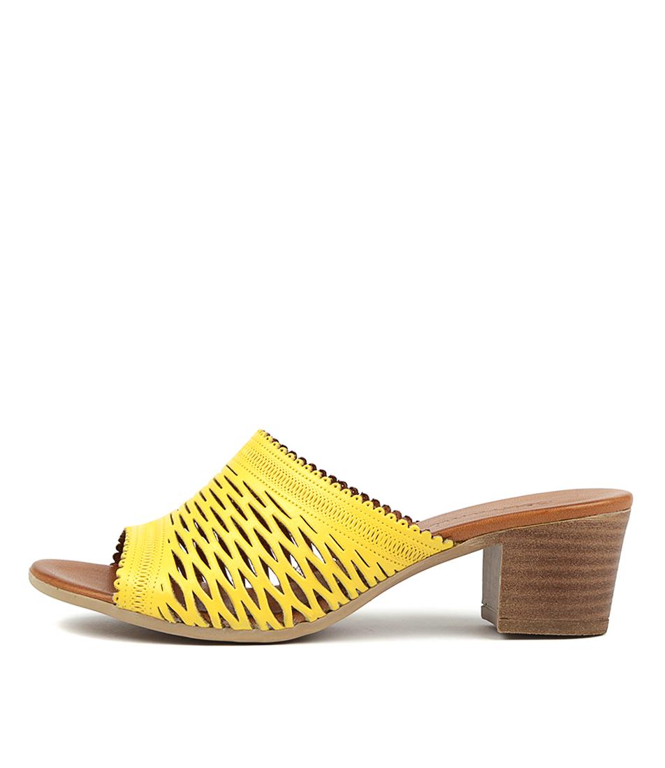 Buy Beltrami Callista Dk Yellow Tan Heeled Sandals online with free shipping