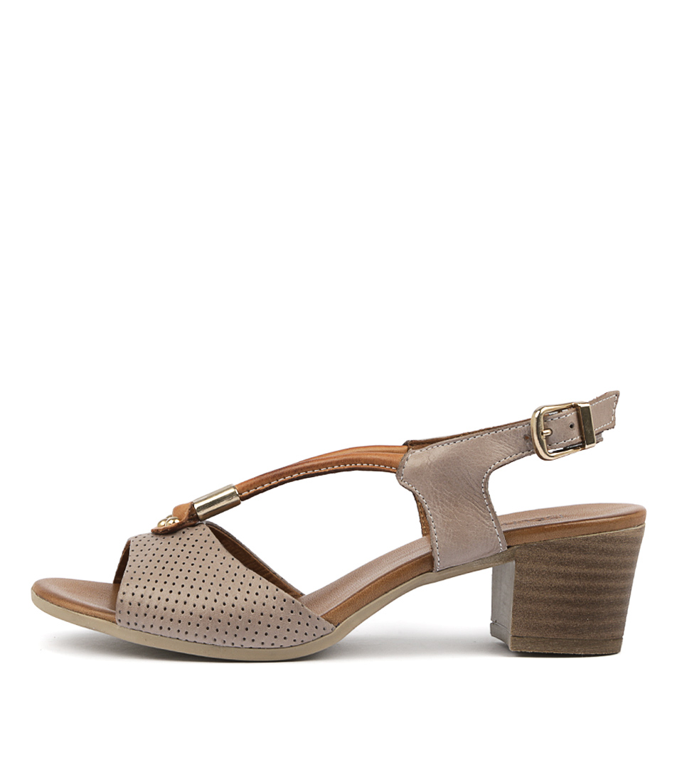 Buy Beltrami Cecilie Taupe Heeled Sandals online with free shipping