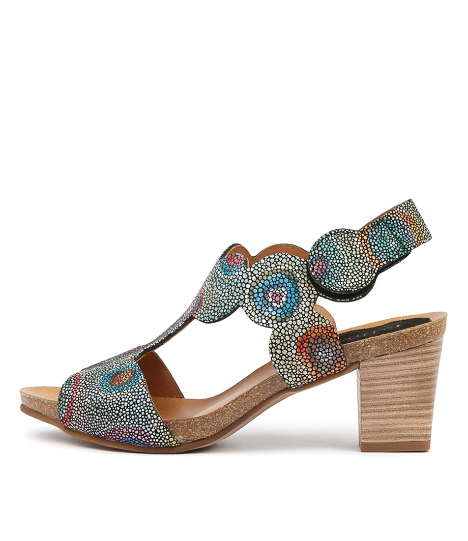 Buy Beltrami Paloma Be Black Multi Heeled Sandals online with free shipping