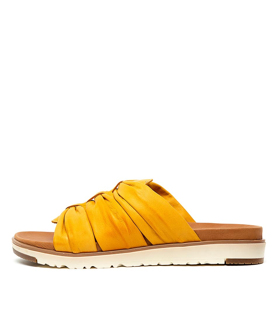 Buy Beltrami Meredith Yellow Flat Sandals online with free shipping