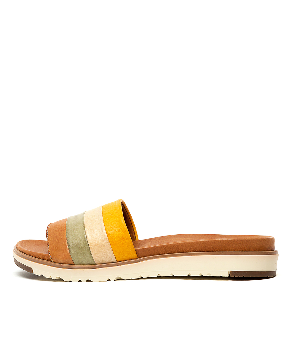 Buy Beltrami Marlow Tan Multi Flat Sandals online with free shipping