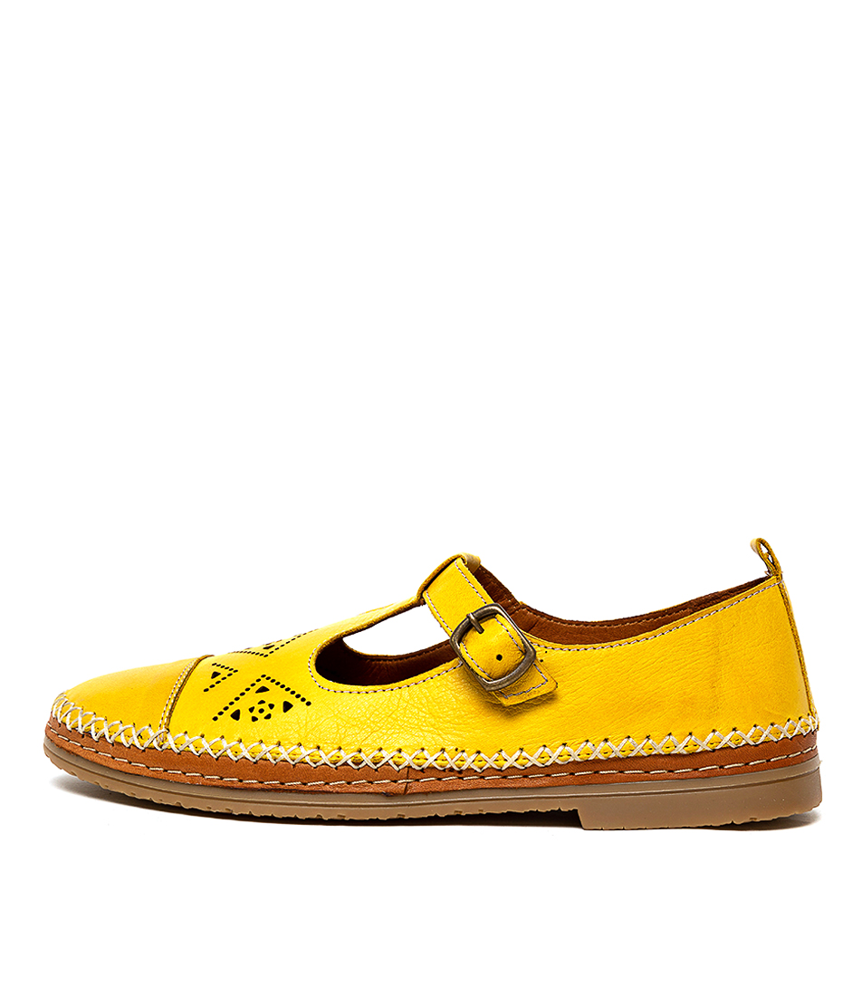 Buy Beltrami Cilver Dk Yellow Tan Flats online with free shipping