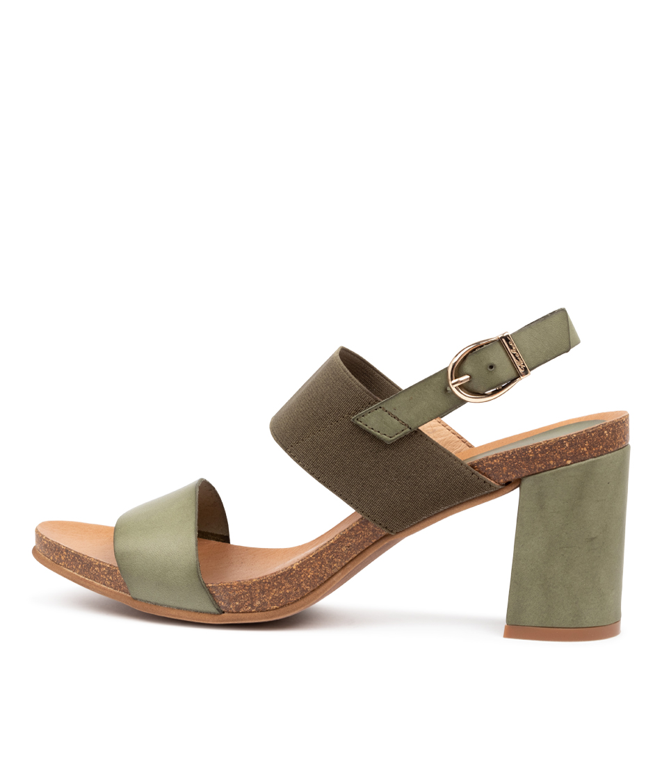 Buy Beltrami Prunella Be Khaki Casual Heeled Sandals online with free shipping