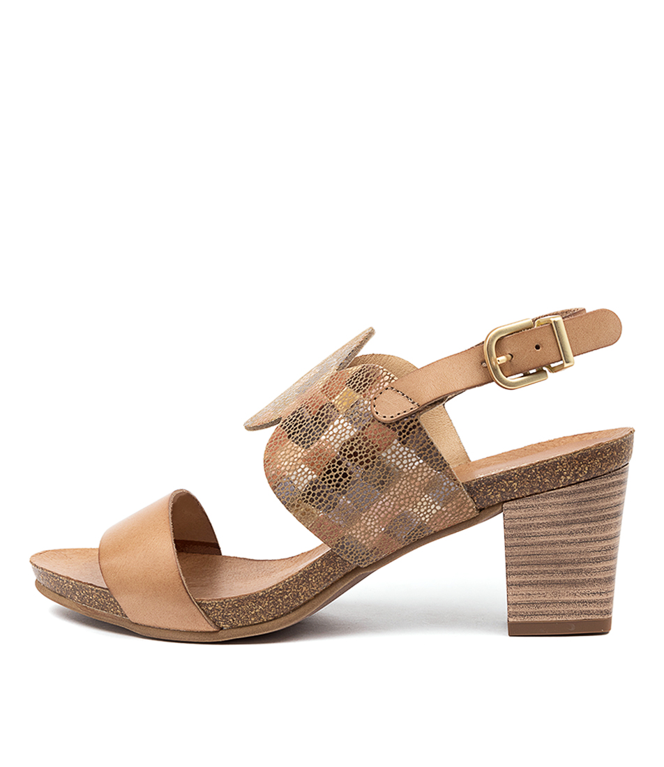 Buy Beltrami Prema Be Tan Multi Casual Heeled Sandals online with free shipping