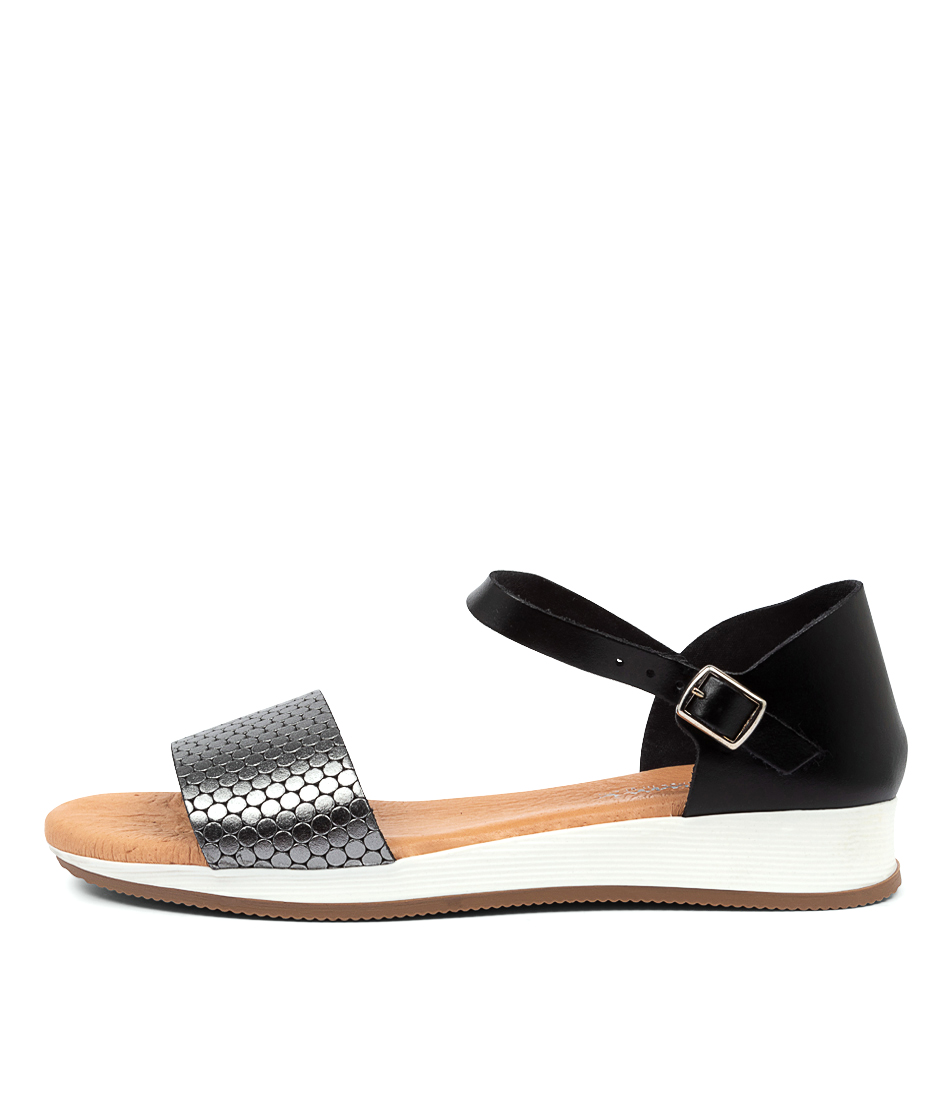 Buy Beltrami Indina Be Black Pewter Sandals online with free shipping