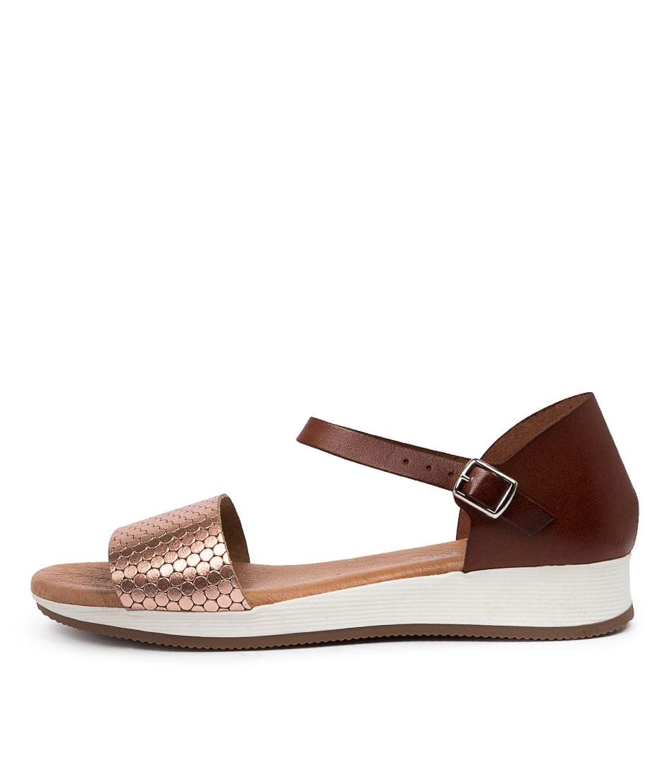 Buy Beltrami Indina Be Rose Gold Tan Sandals online with free shipping
