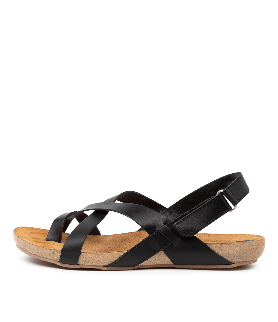 Buy Beltrami Yazmine Be Black Flat Sandals online with free shipping