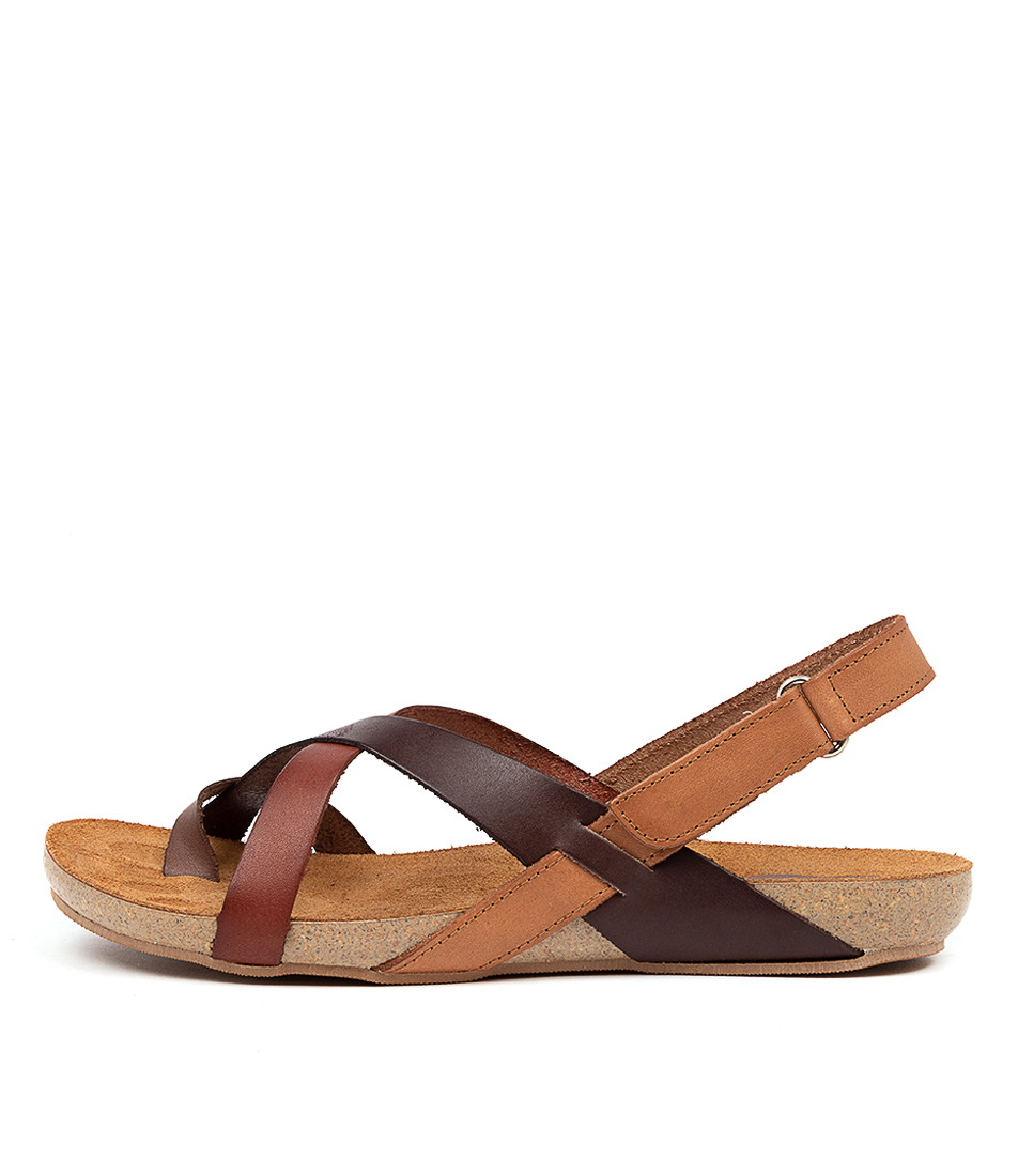 Buy Beltrami Yazmine Be Brown Multi Flat Sandals online with free shipping