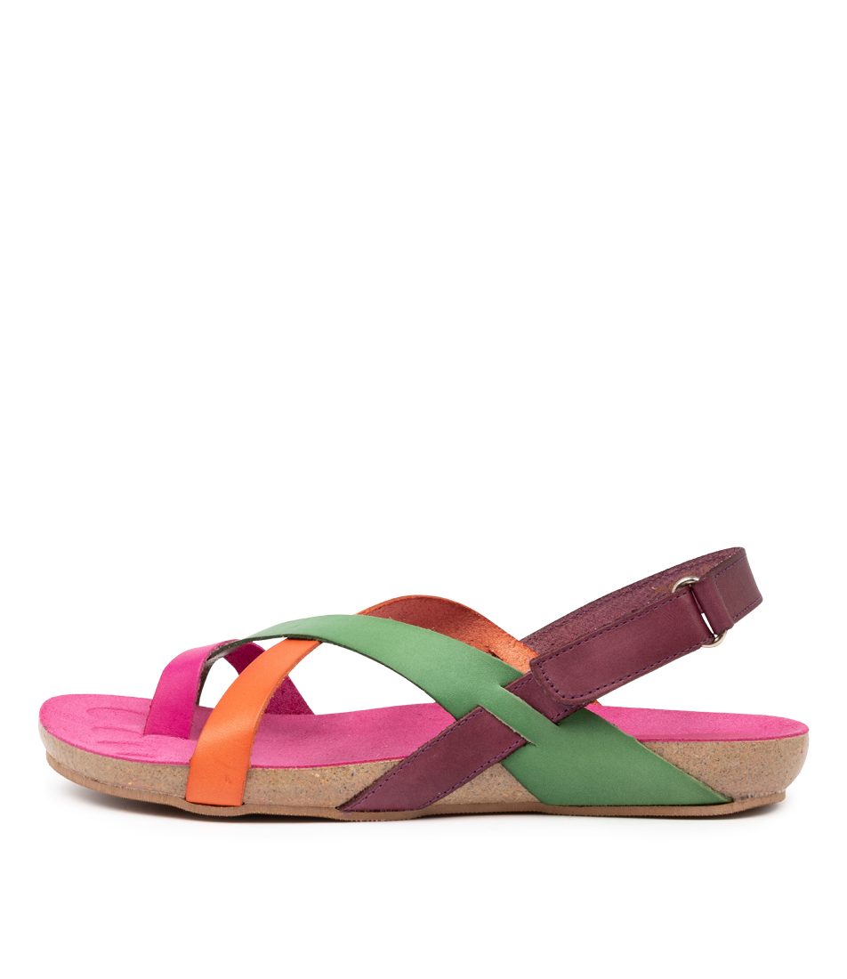 Buy Beltrami Yazmine Be Pink Multi Flat Sandals online with free shipping